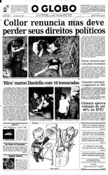 30 de Dezembro de 1992, Primeira Página, página 1