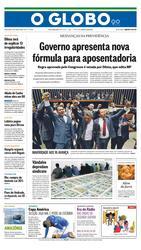 18 de Junho de 2015, Primeira Página, página 1