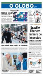 21 de Setembro de 2015, Primeira Página, página 1