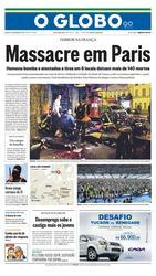 14 de Novembro de 2015, Primeira Página, página 1