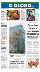 21 de Novembro de 2015, Primeira Página, página 1