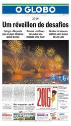 01 de Janeiro de 2016, Primeira Página, página 1