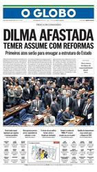 12 de Maio de 2016, Primeira Página, página 1