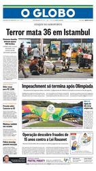 29 de Junho de 2016, Primeira Página, página 1