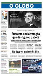 15 de Dezembro de 2016, Primeira Página, página 1