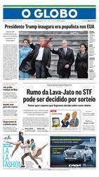 21 de Janeiro de 2017, Primeira Página, página 1