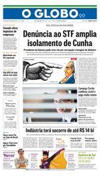 20 de Agosto de 2015, Primeira Página, página 1