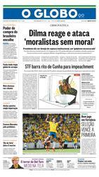 14 de Outubro de 2015, Primeira Página, página 1
